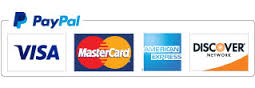 PayPal Payment Options Visa, Mastercard, American Express or Discover