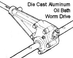 DIE CAST ALUMINUM OIL BATH WORM DRIVE